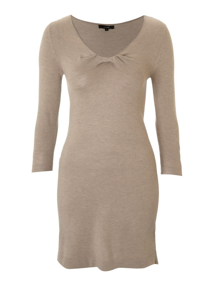 Linea-Knot-Detail-Dress-In-Oatmeal