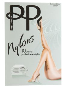 Pretty Polly nylon back seam tights