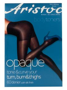 60 den opaque bum, tum, thigh tight