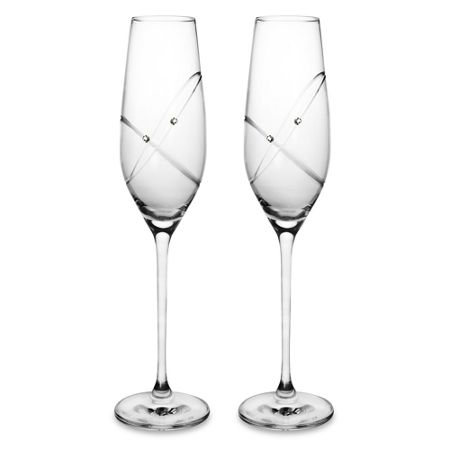 Royal Doulton Toasting flutes with this ring - set of 2