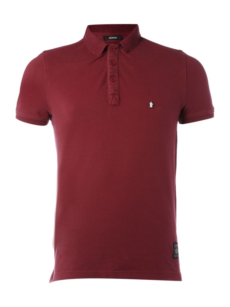 Criminal-Market-Polo-Shirt-In-Claret