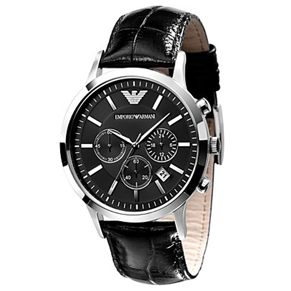Emporio Armani AR2447 Gents Leather strapped watch