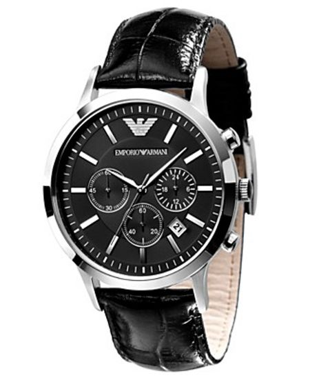Emporio Armani AR2447 Classic Black Leather Mens Watch
