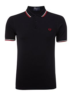 Men's Fred Perry Slim Fitted Twin Tipped Polo