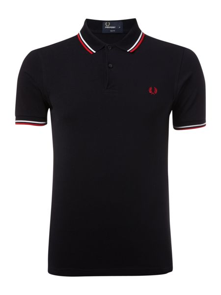 Fred Perry Slim Fitted Twin Tipped Polo Shirt