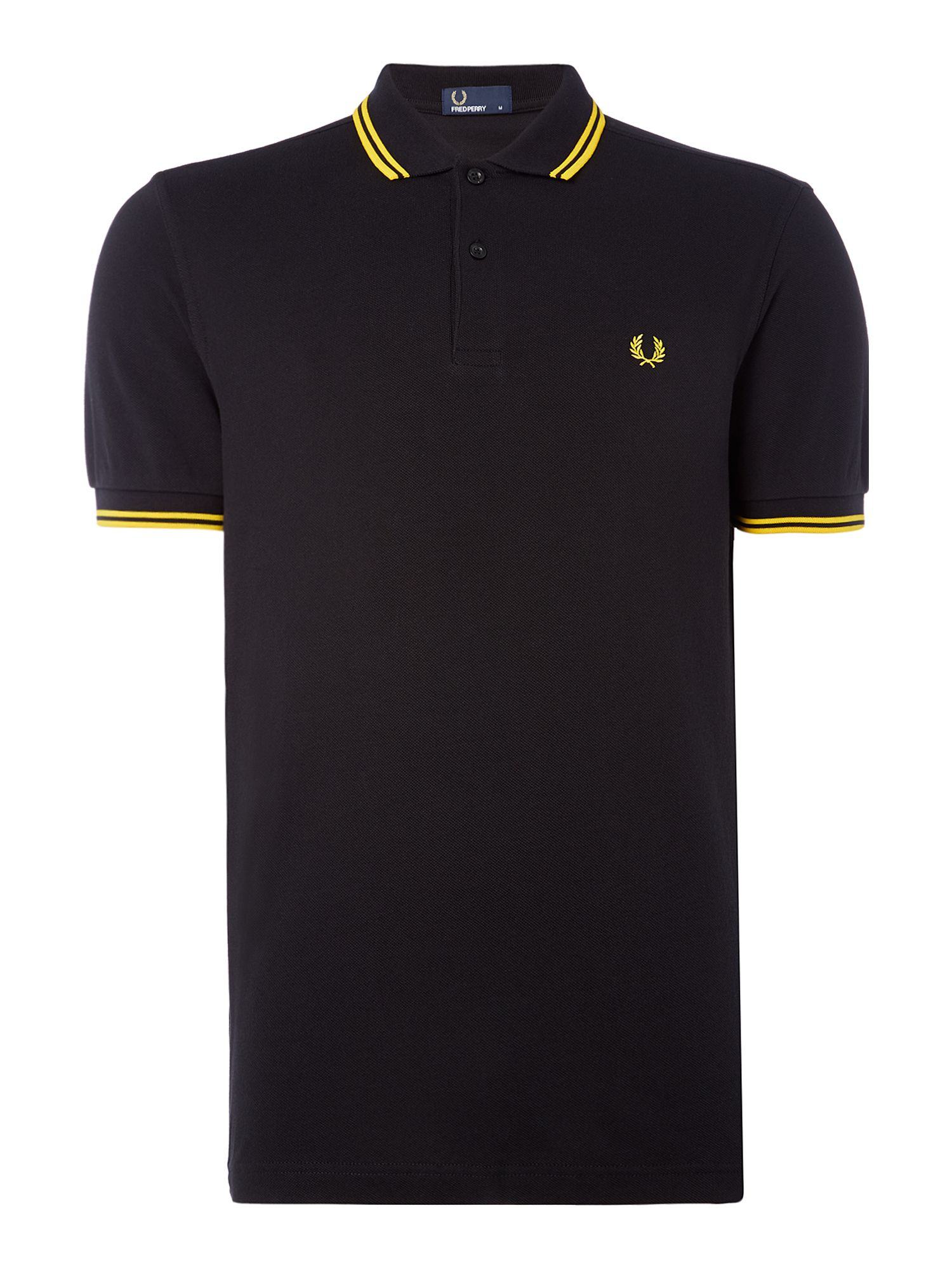 Men's Fred Perry Twin Tipped Polo Shirt, Black