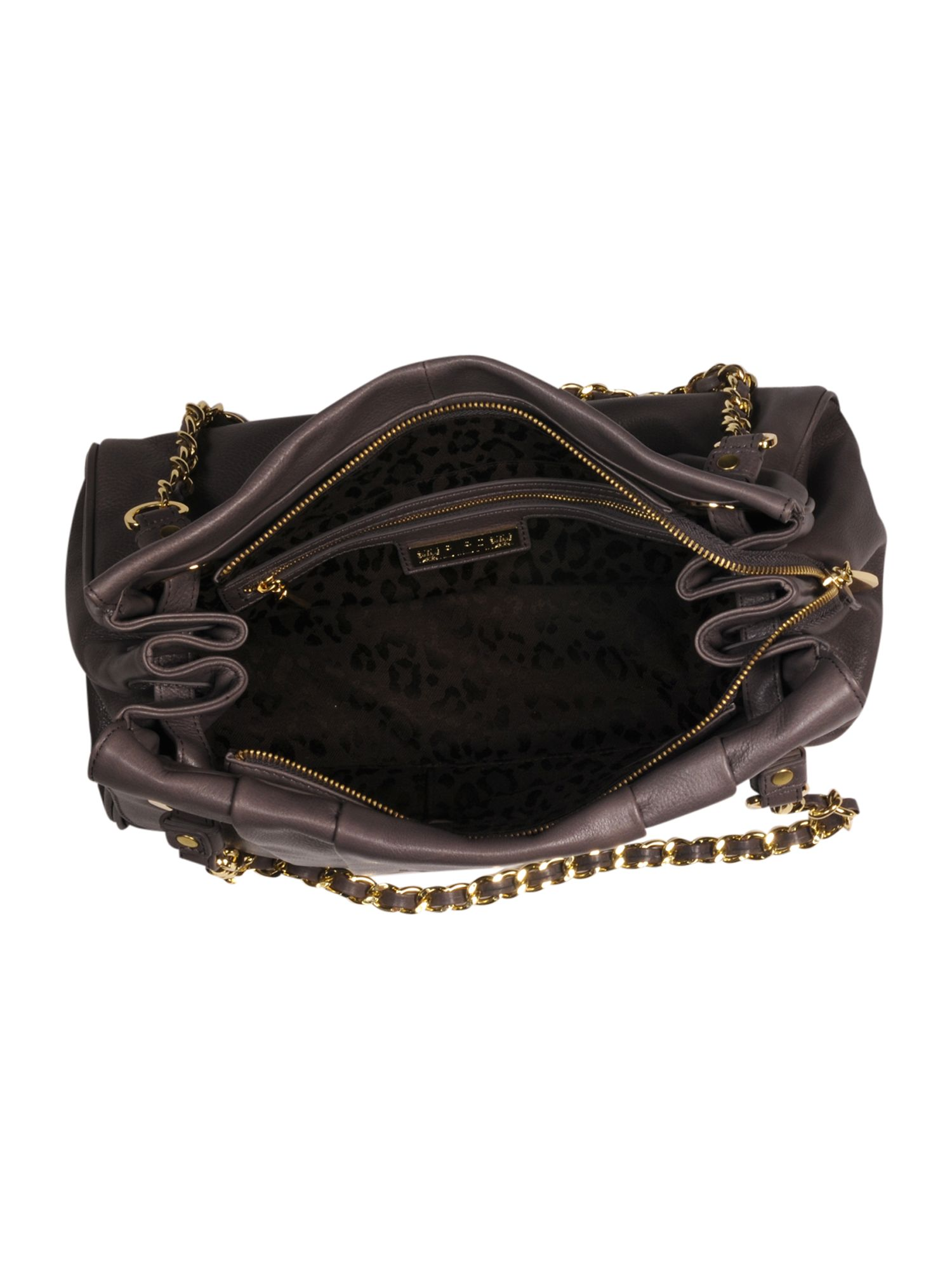Eleanor leather chain handle bag
