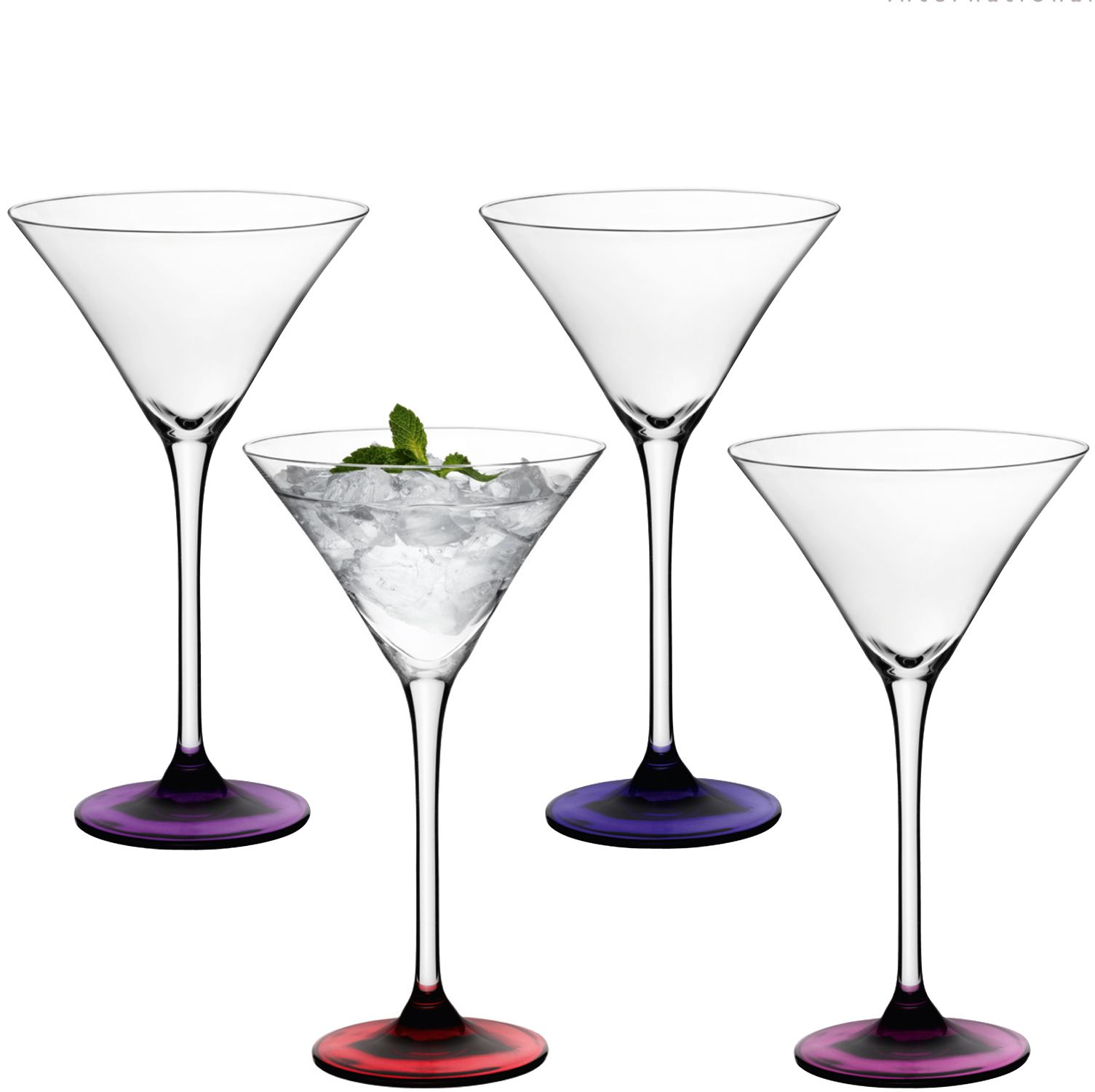 Coro berry cocktail glasses x 4