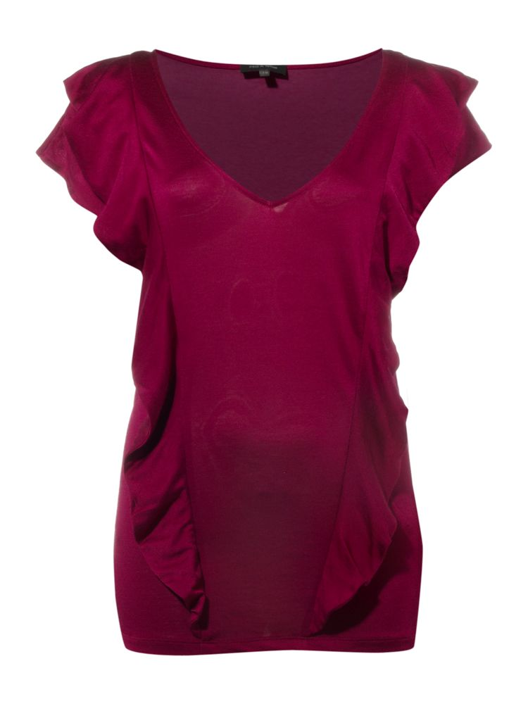 Pied-a-Terre-Frill-Front-Silk-Jersey-Tee-In-Claret