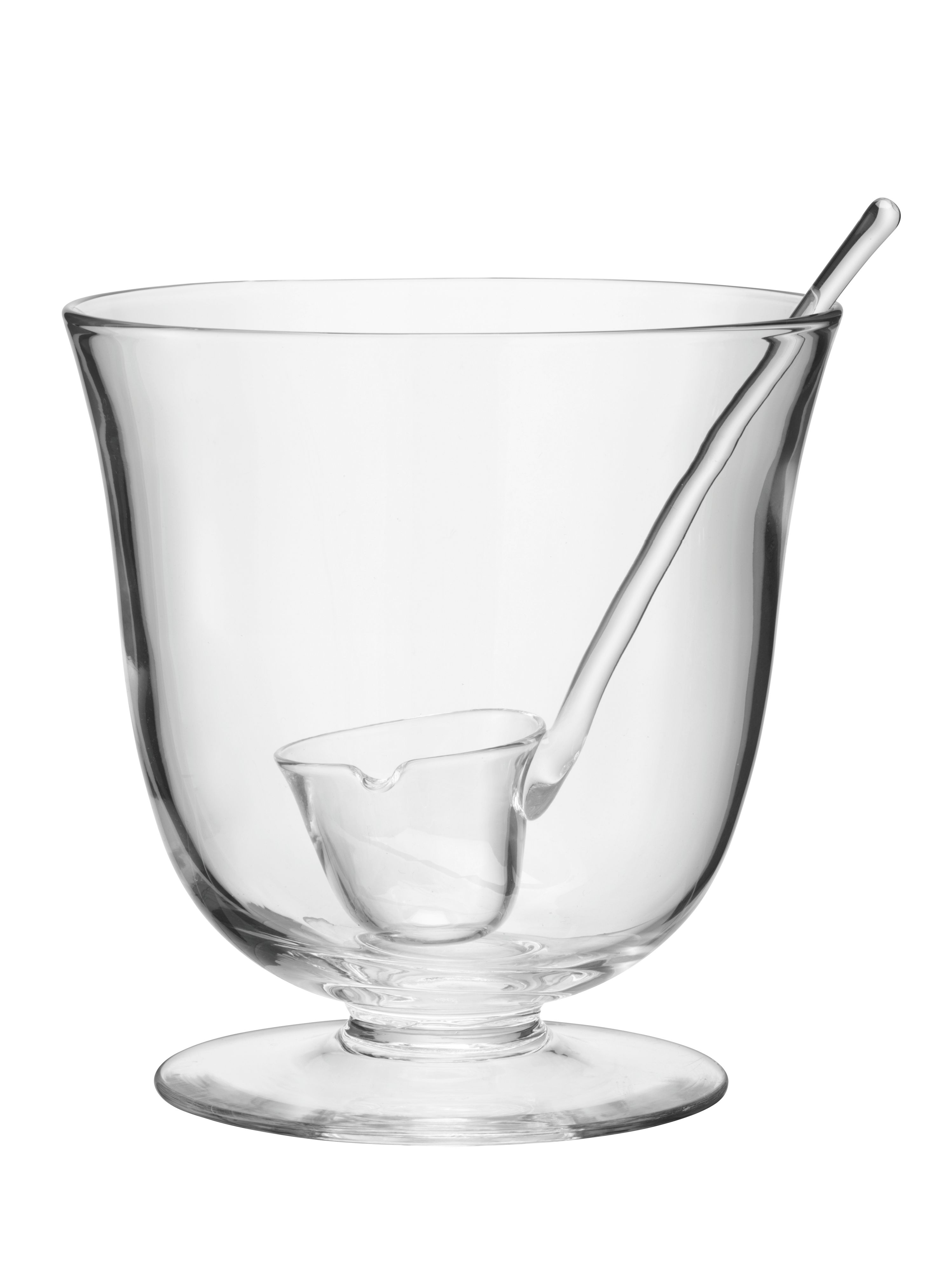 Serve punch bowl and ladle