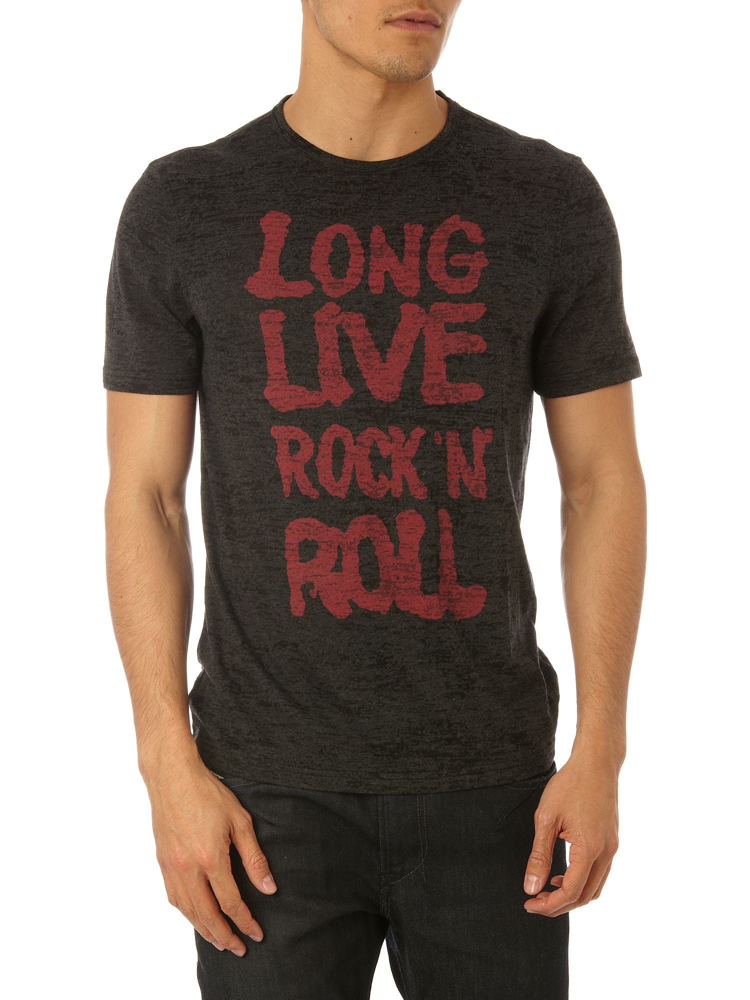 John Varvatos Long live rock graphic tee Grey product image