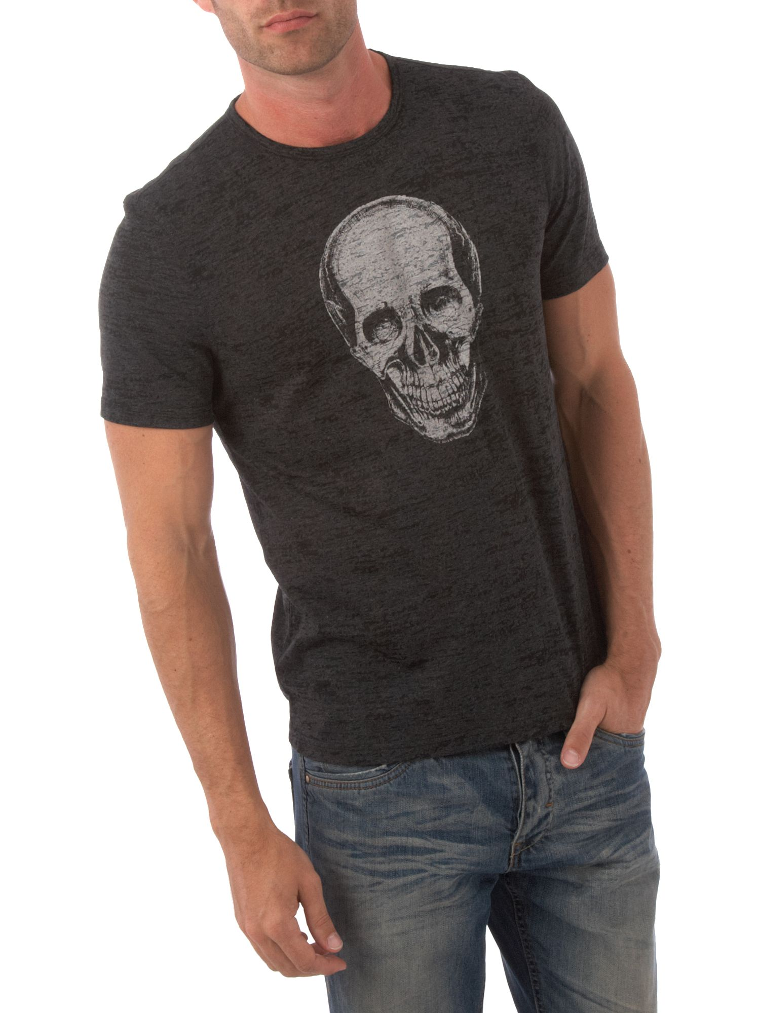 John Varvatos Skull graphic tee Grey product image