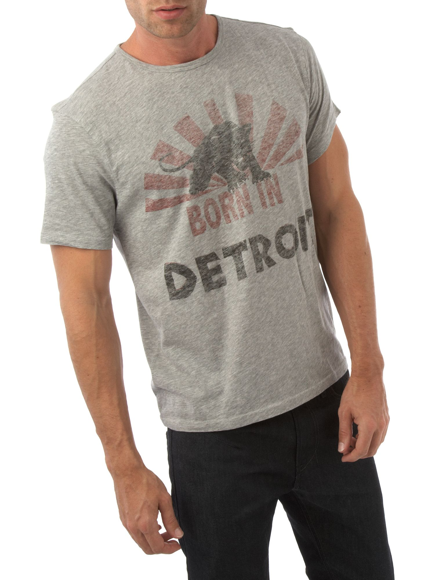 John Varvatos Detroit graphic tee Grey product image