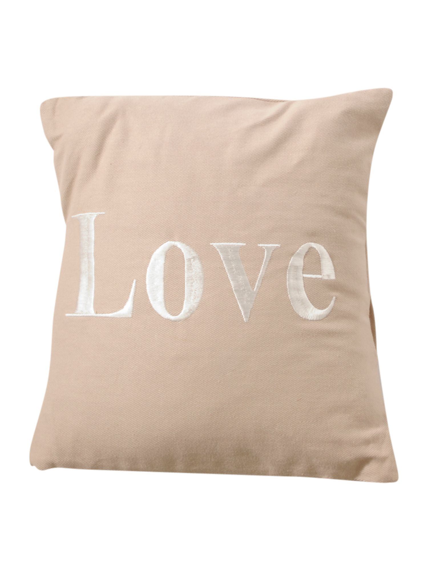 Adore cushion white on linen