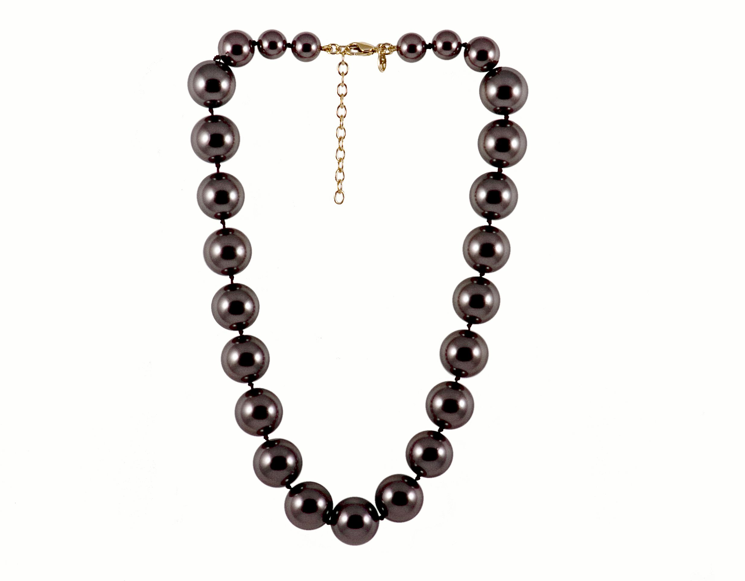 Monet Chocolate pearl necklace