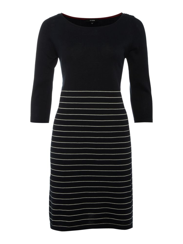 Linea-Knitted-Nautical-Dress-In-Cream-From-House-of-Fraser