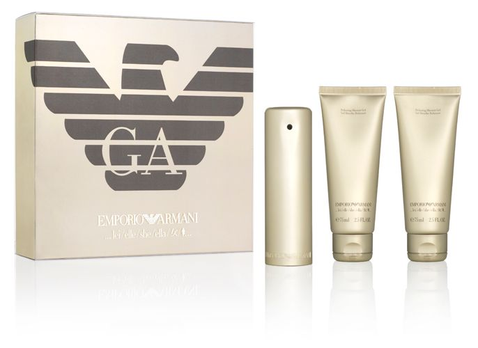 emporio armani she gift set review compare prices buy. Black Bedroom Furniture Sets. Home Design Ideas