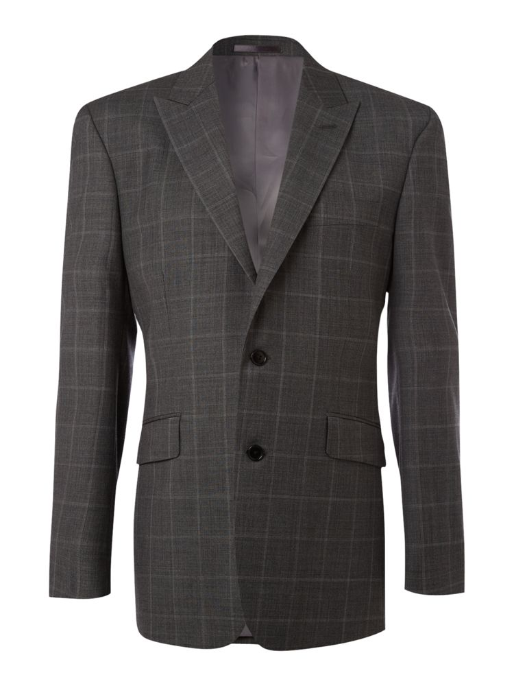 New-Lingwood-Sharkskin-Check-Formal-Jacket-In-Grey