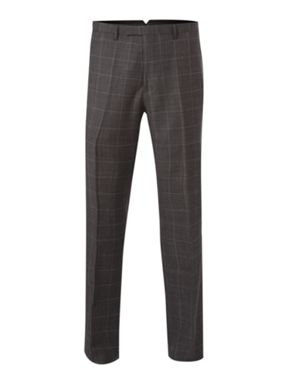 New & Lingwood Sharkskin check formal TRS