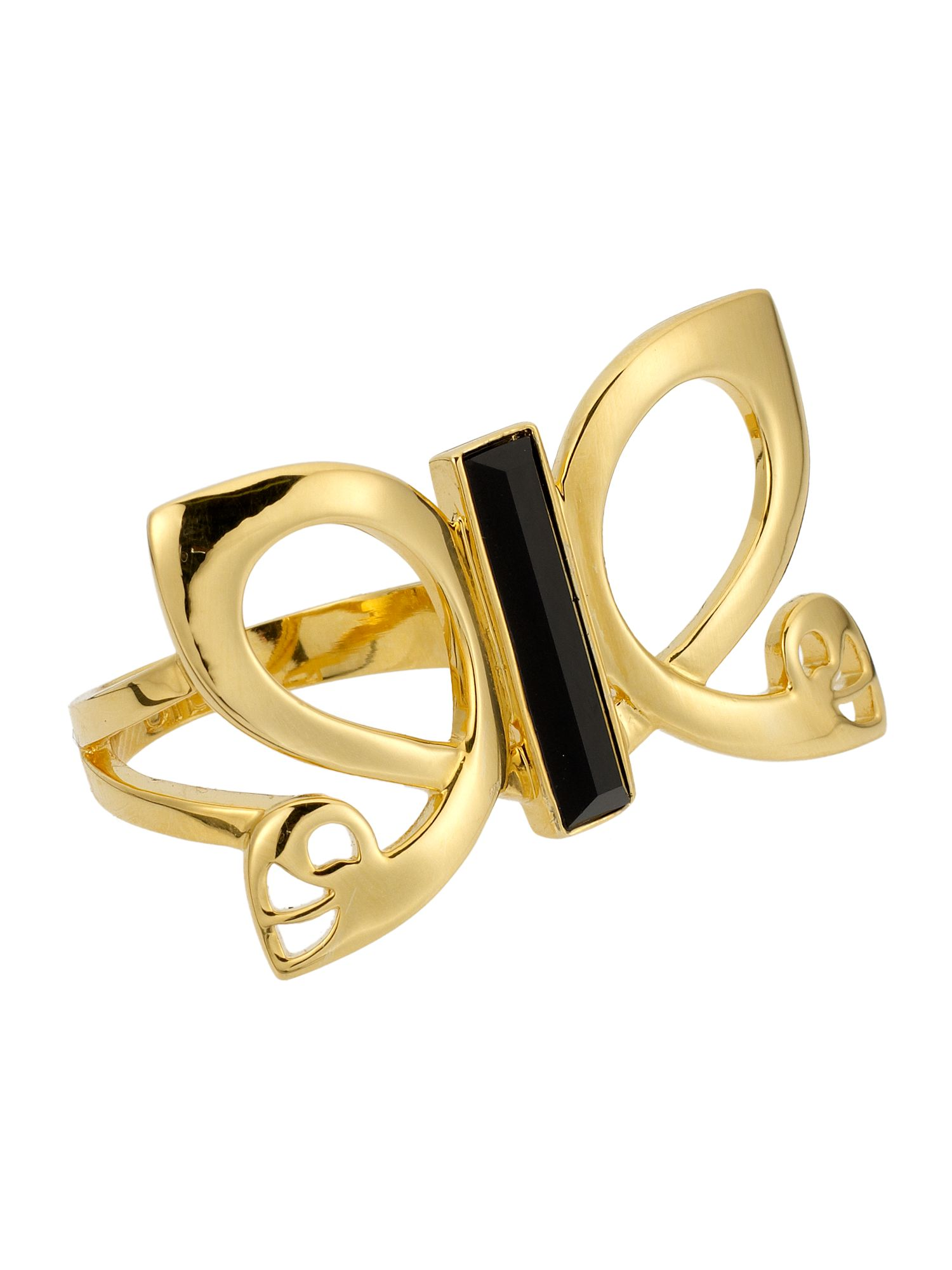 Biba Butterfly double ring, Gold