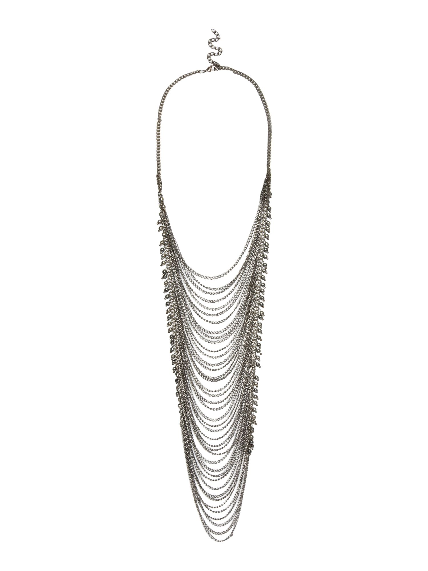 Looped chain long necklace
