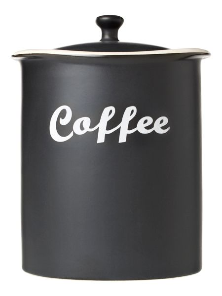 Linea Curve coffee jar black