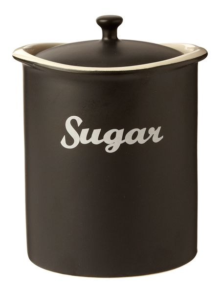Linea Curve sugar jar black