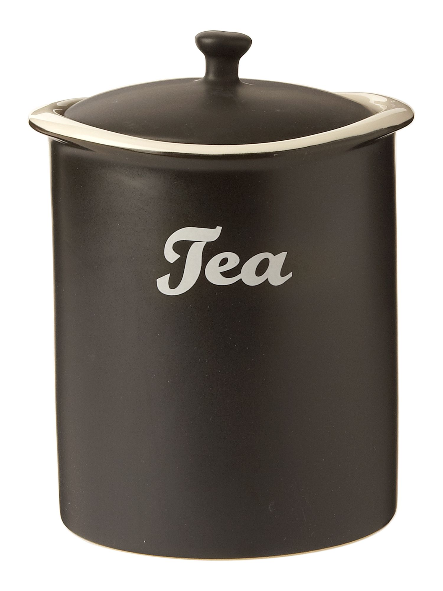 Curve tea jar black