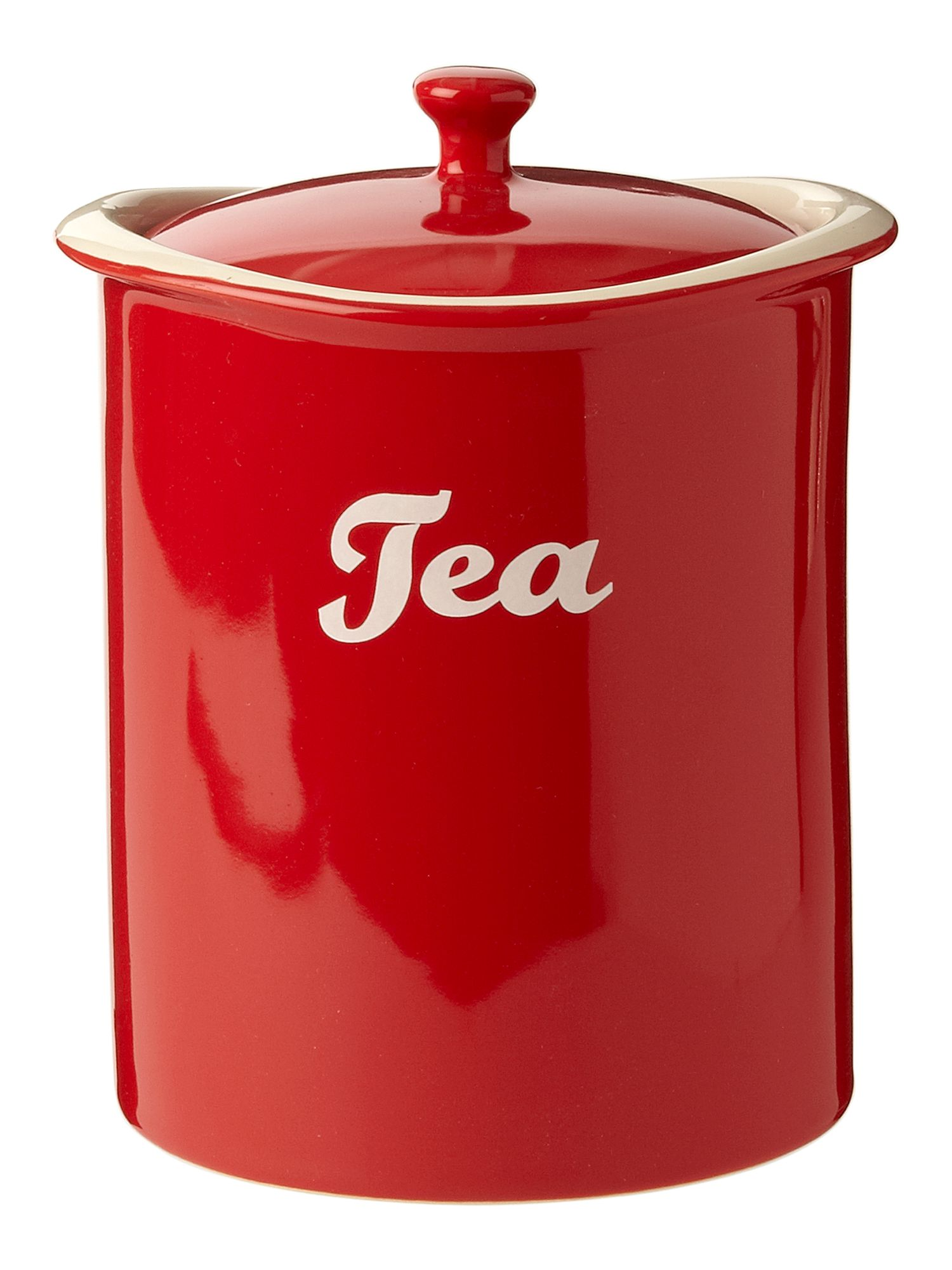 Curve tea jar red