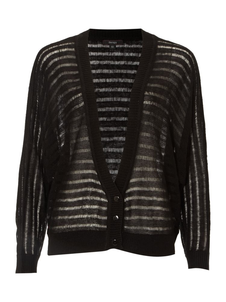 Therapy-Ladder-Stitch-Cardigan-In-Black