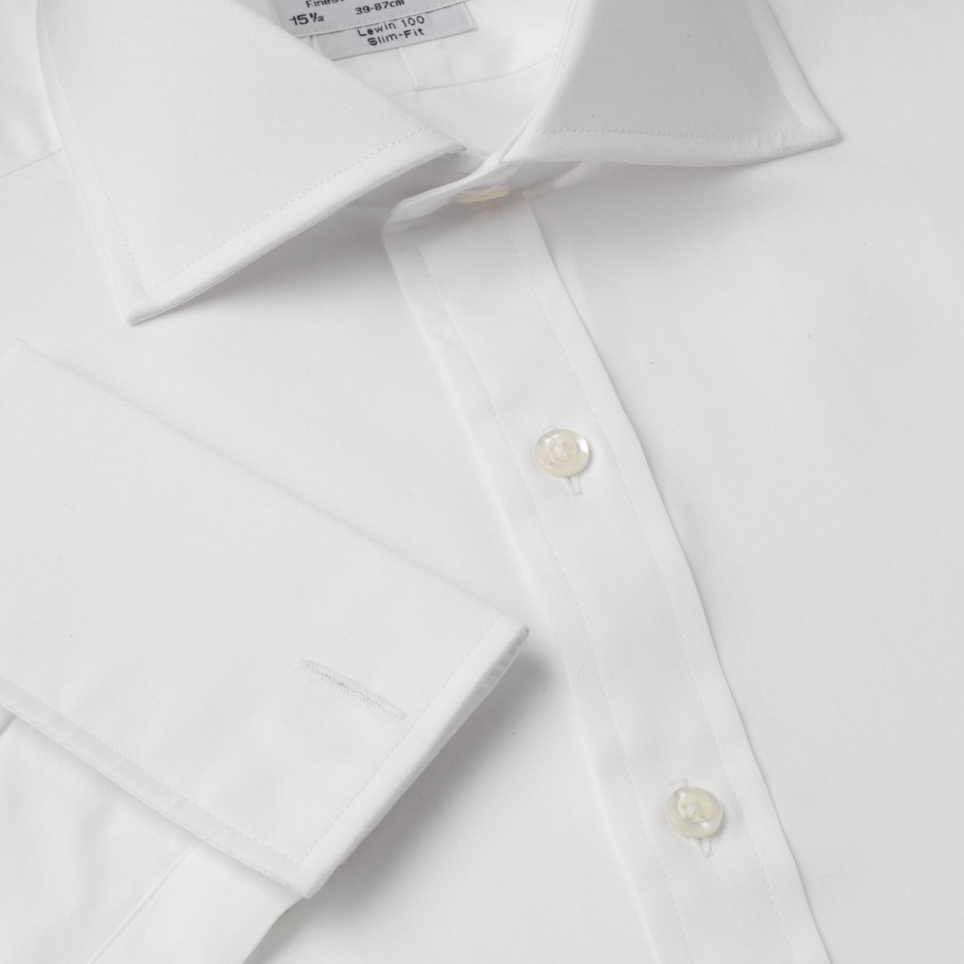Plain 2-fold poplin Windsor shirt