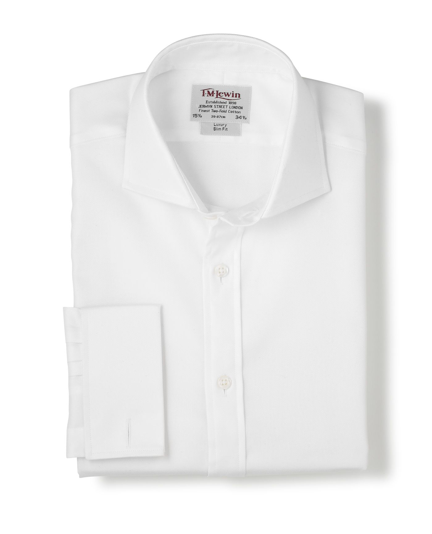 Slim fit twill windsor shirt