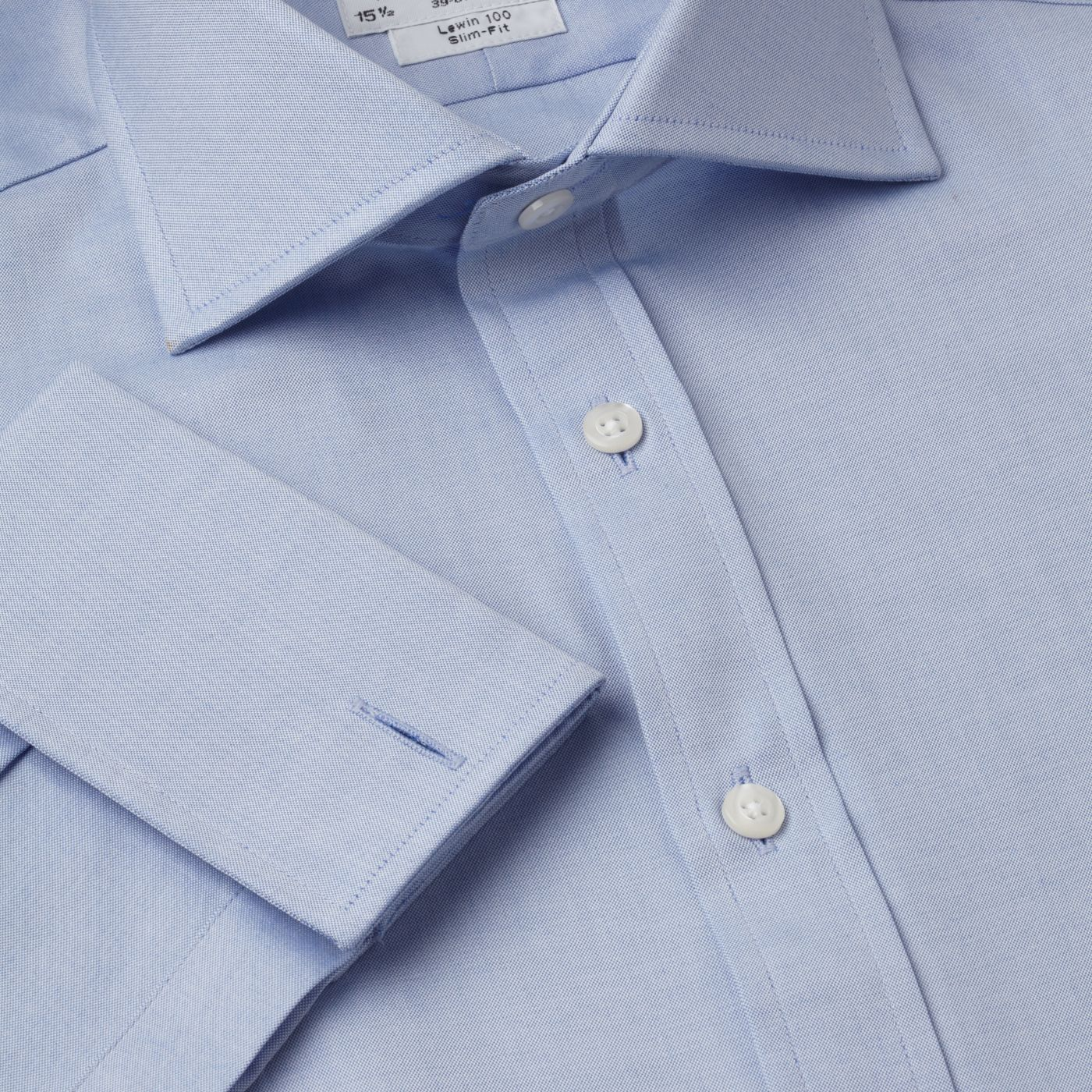 Plain pinpoint Oxford Windsor shirt
