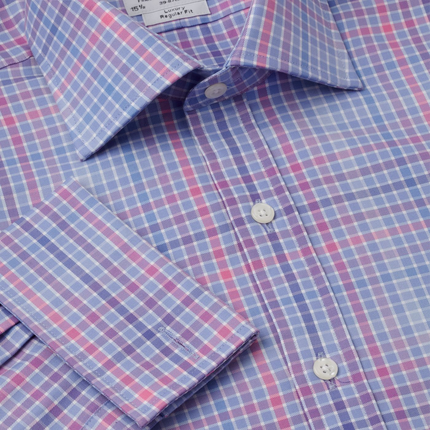 Check luxury twill Prince of Wales shirt