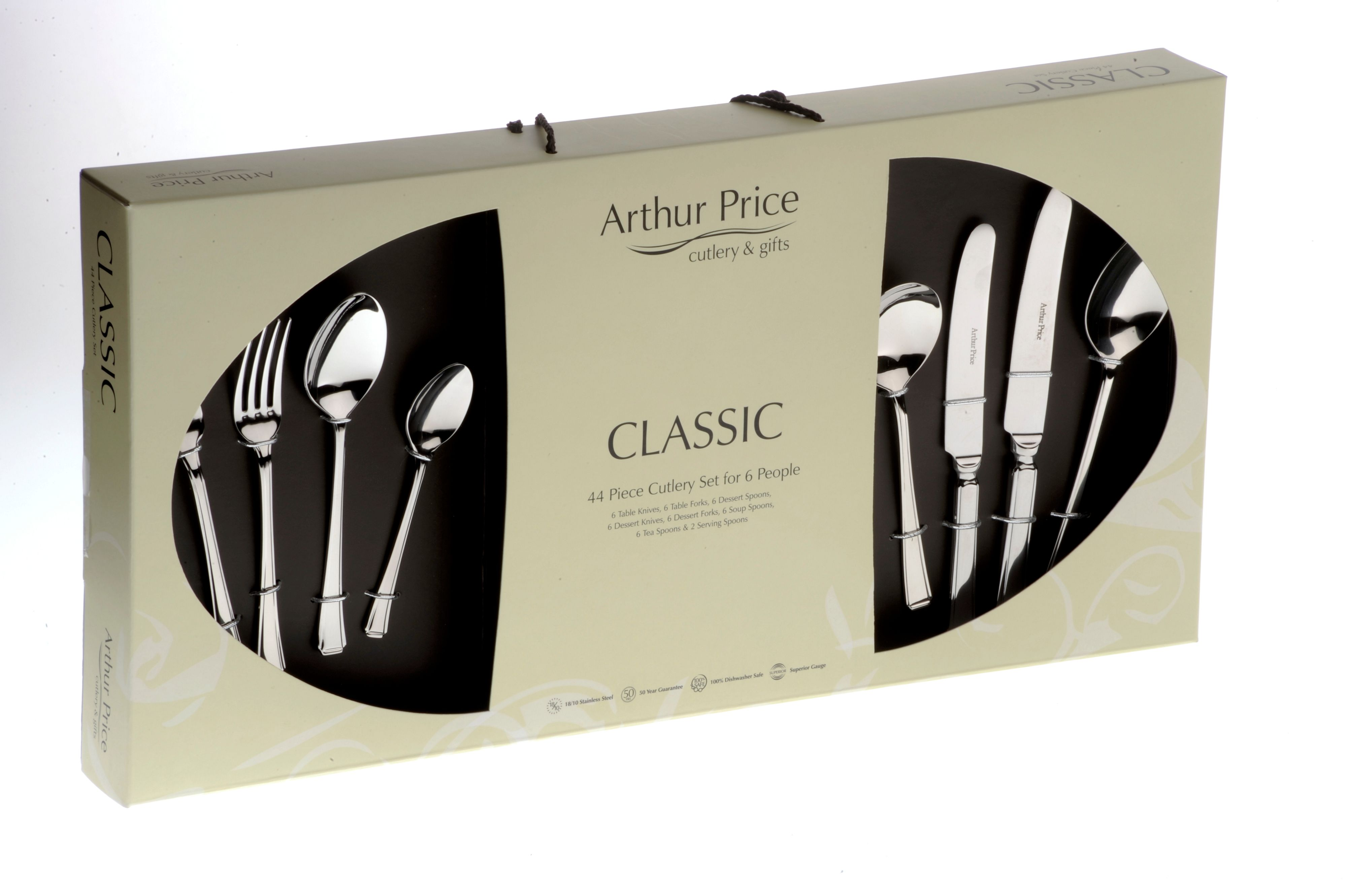 Harley 44 piece boxed cutlery set
