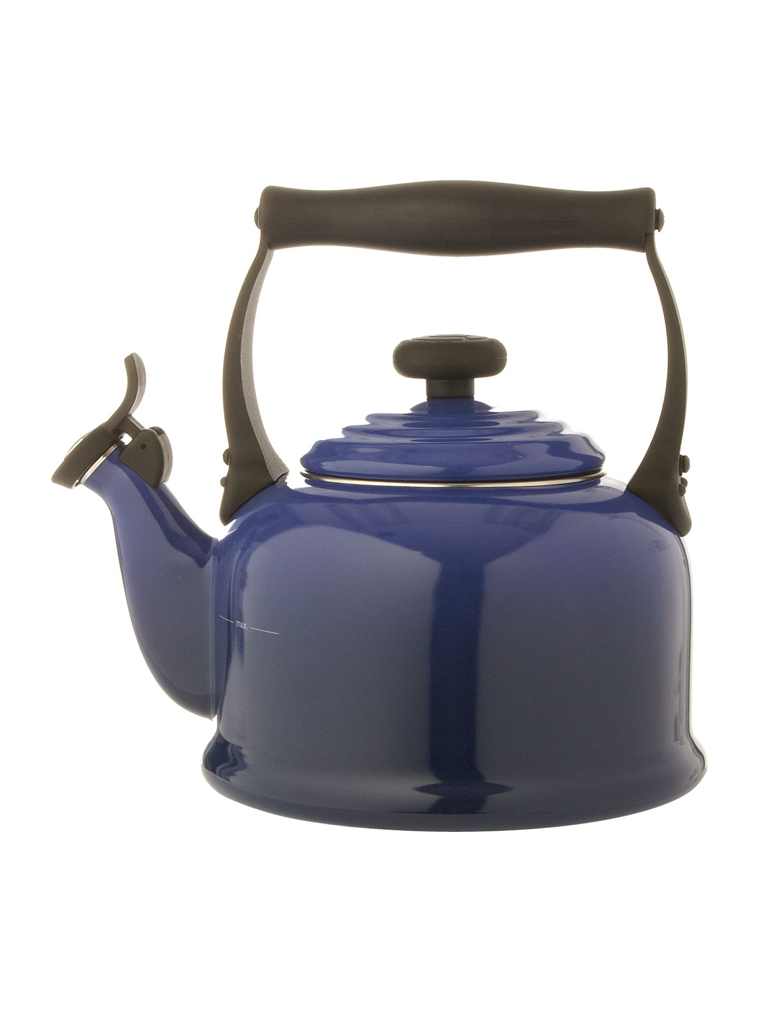 Graded blue traditional stove whistle kettle