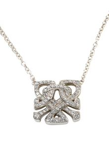 Biba White gold and diamond mini logo pendant