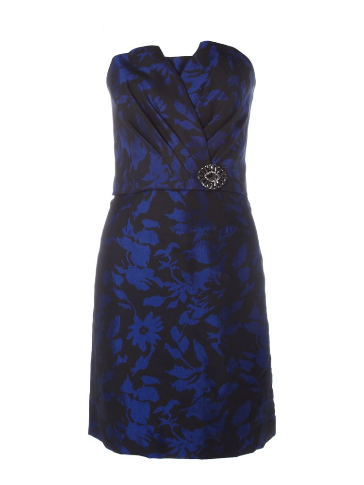 JS-Collections-Taffetta-Two-Tone-Short-Dress-In-Blue-From-House-of-Fraser