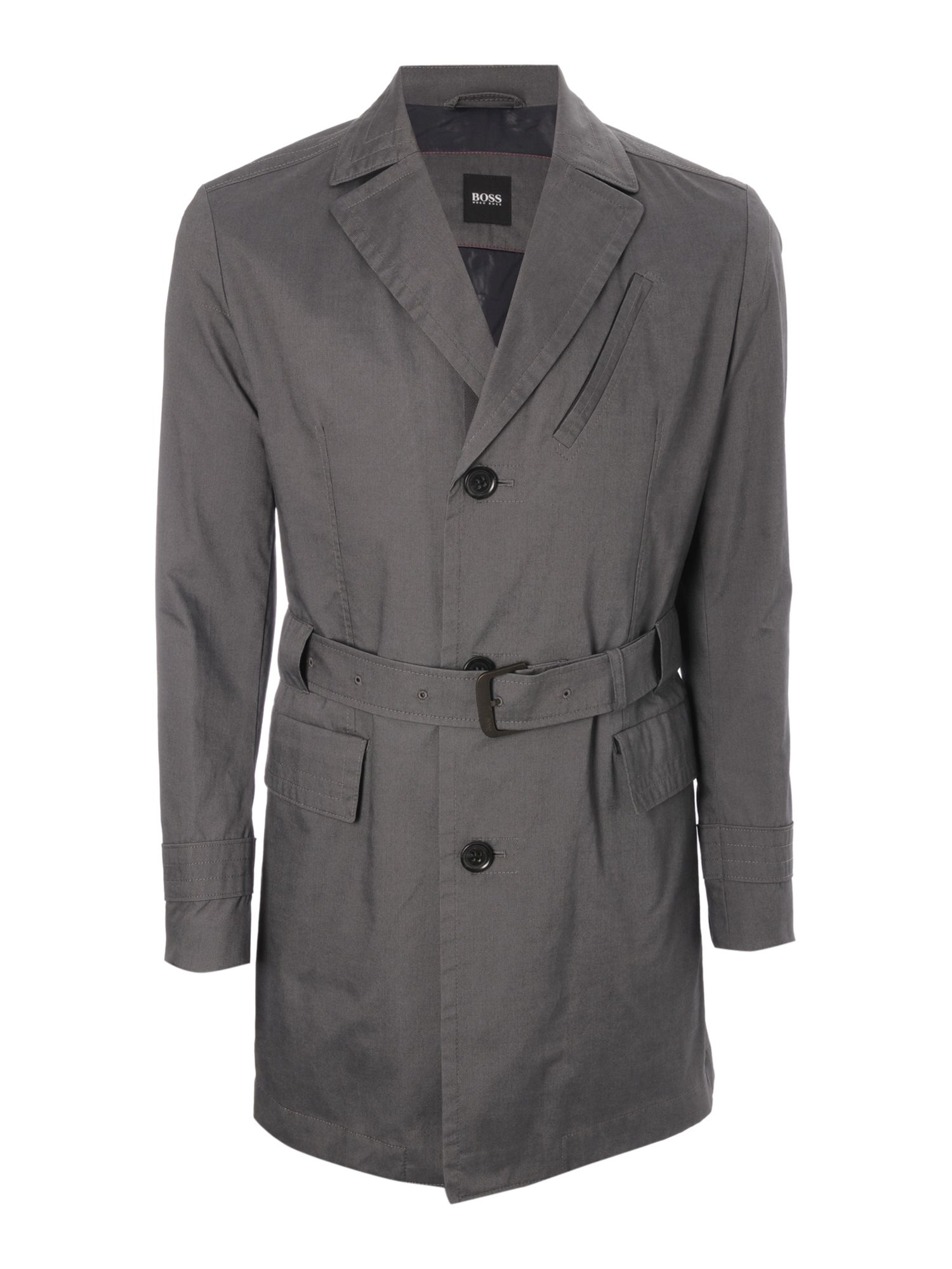 Hugo Boss Belted Nylon Trench Coat