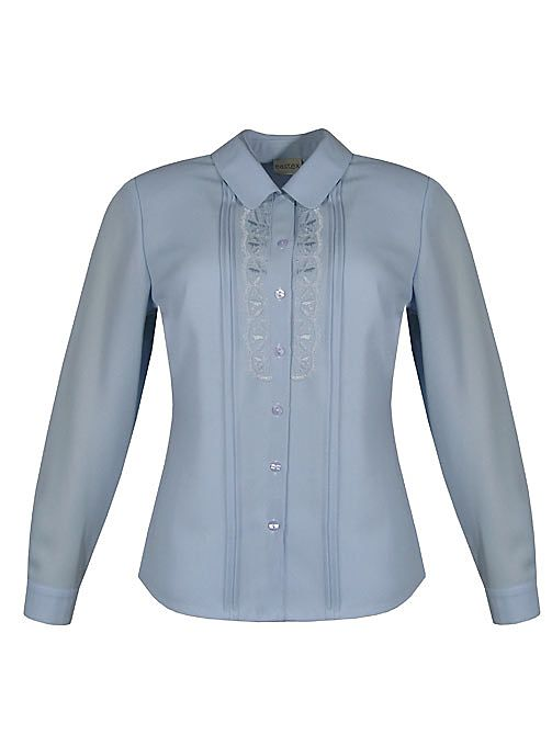 Eastex Long sleeve georgette lace blouse Light Blue product image