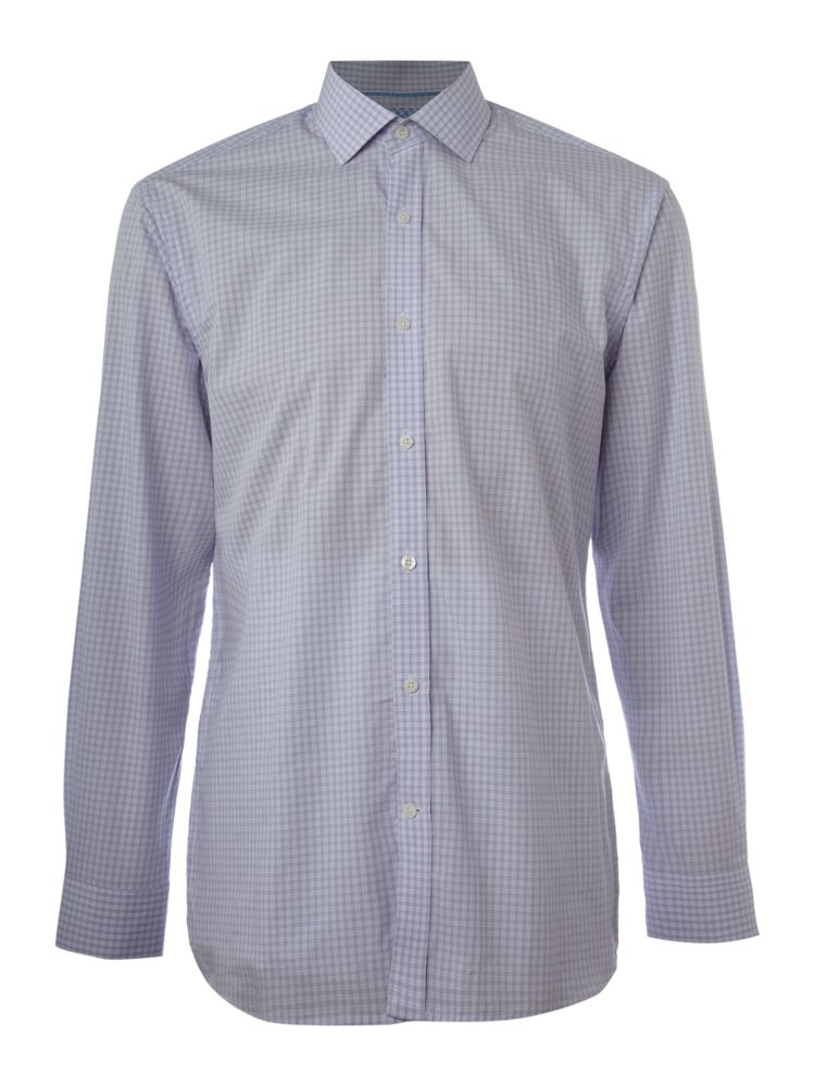 Howick-Tailored-Formal-Shirt-With-Small-Check-In-Lilac