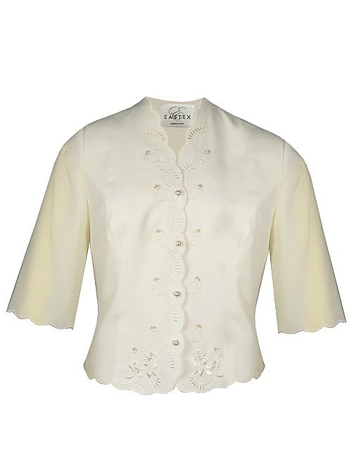 Eastex 3/4 sleeve sequin blouse Ivory product image