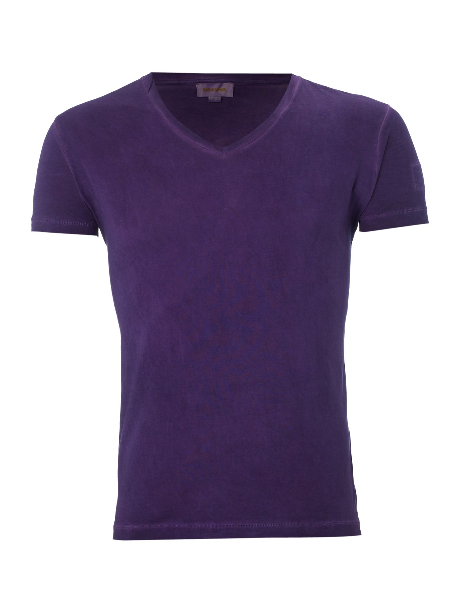 Diesel V-neck washed T-shirt - Purple XL,XL,XL product image