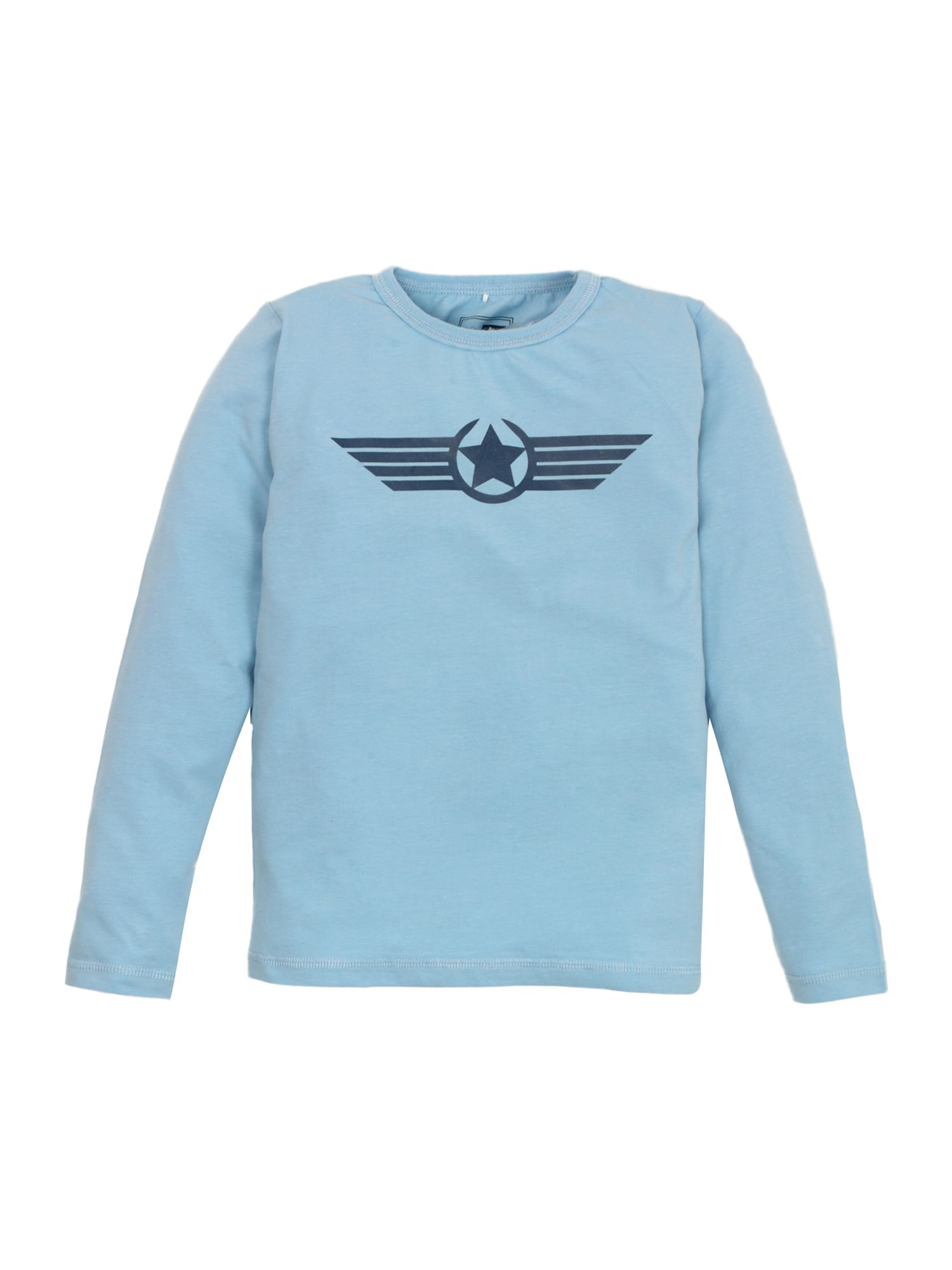 name it Long-sleeved star printed T-shirt - Light Blue product image