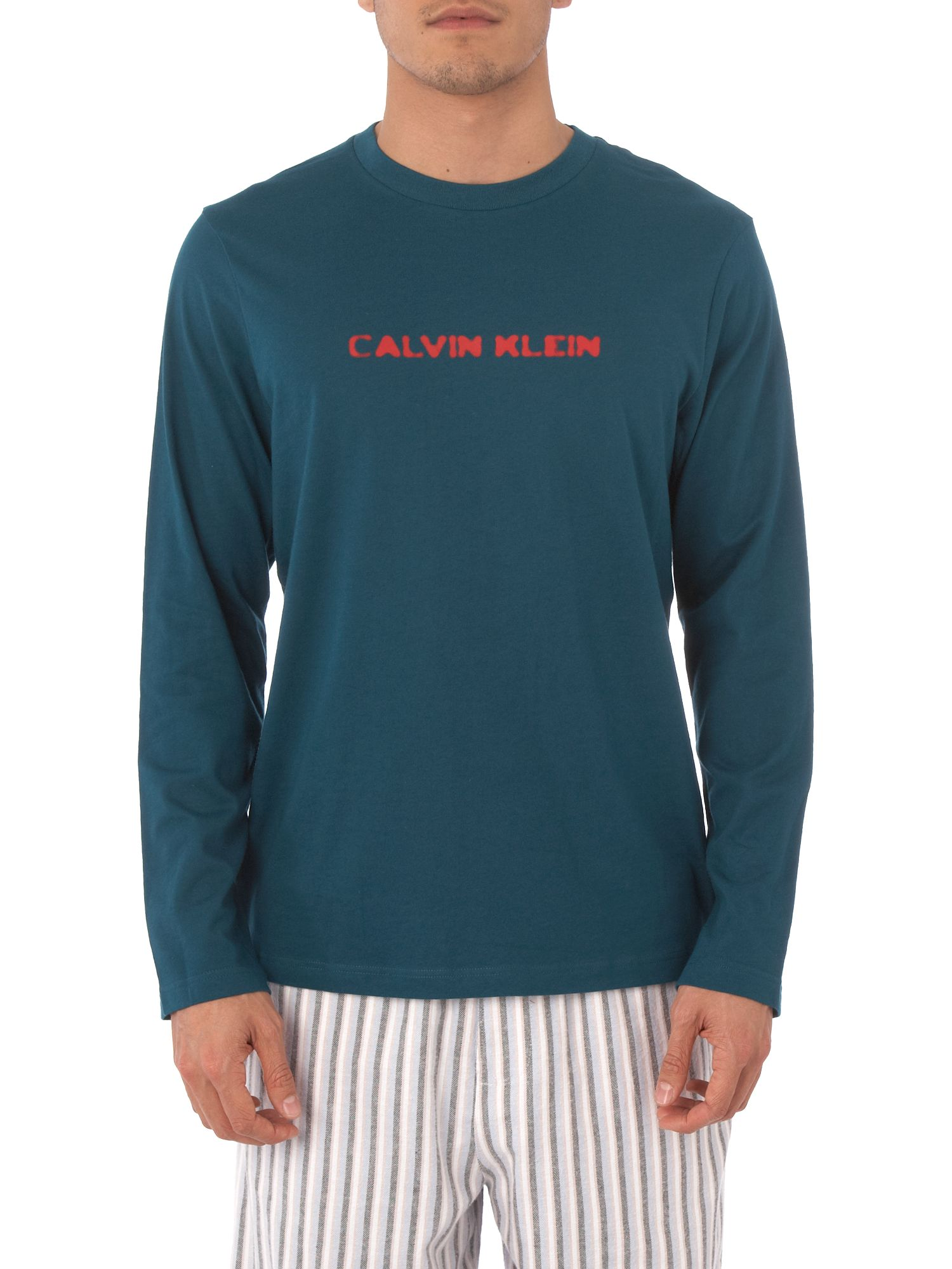 Calvin Klein Long-sleeved lounge T-shirt with logo - Aqua XL,M product image