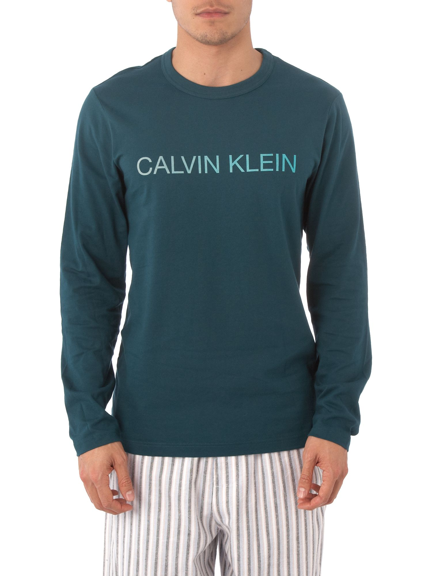 Calvin Klein Long sleeved crew T-shirt - Aqua M,L product image