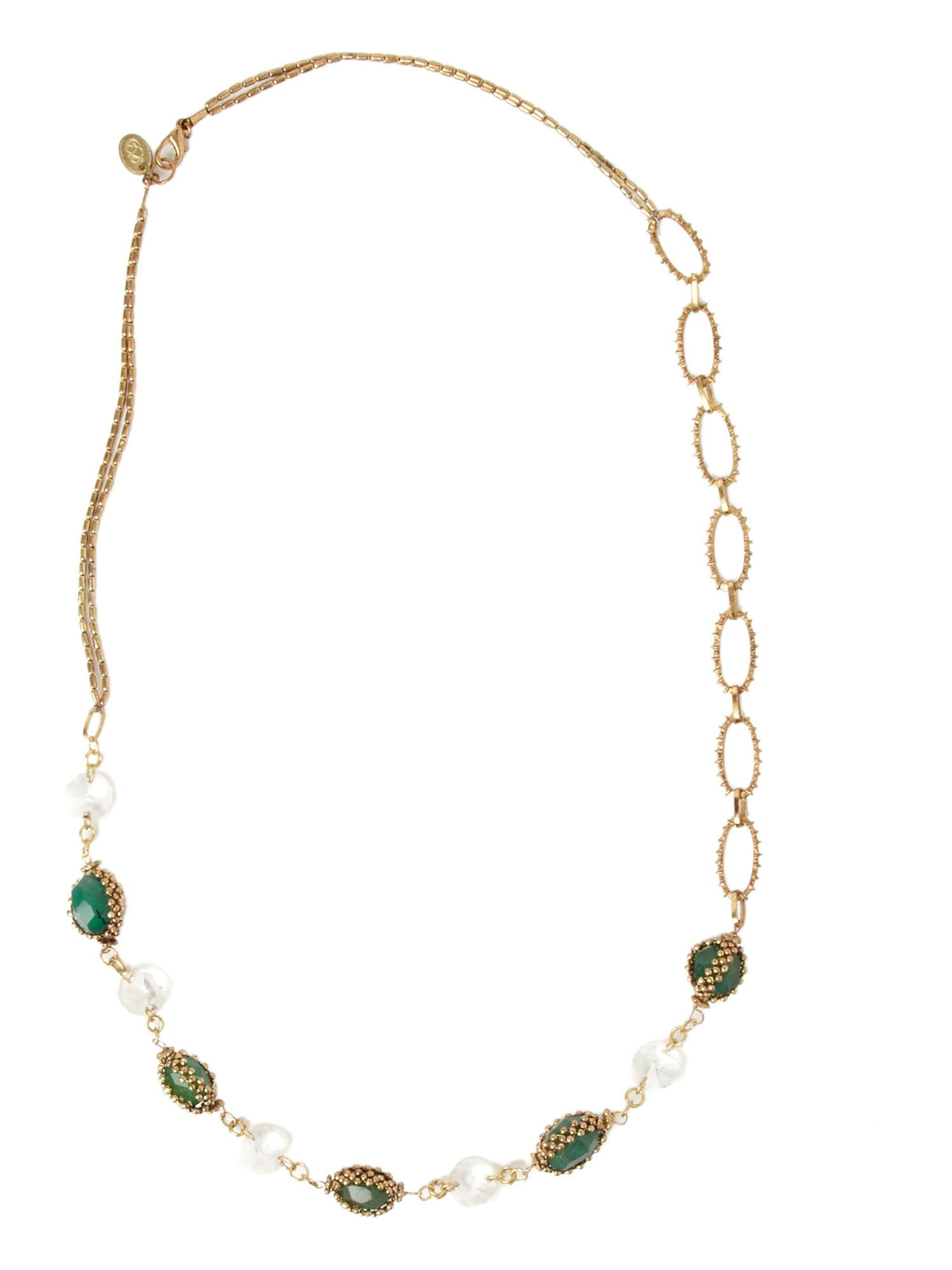 Lisbeth Dahl Aqua beads and crystal necklace product image