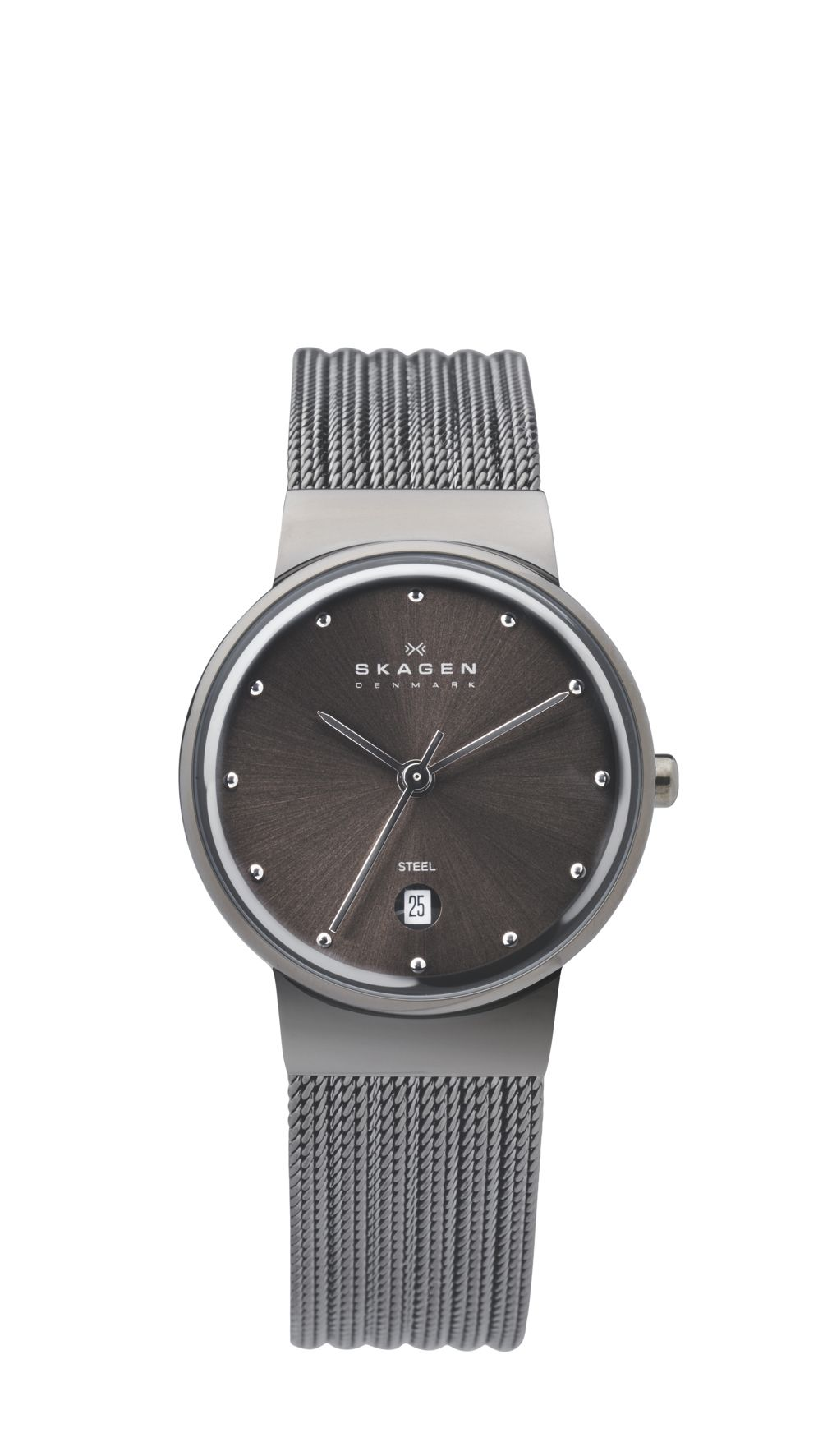 Skagen 355SMM1 Ancher Grey Ladies Mesh Watch, Grey