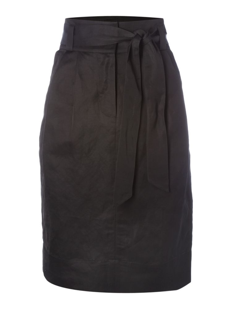 Episode-Belted-Tie-Skirt-In-Black