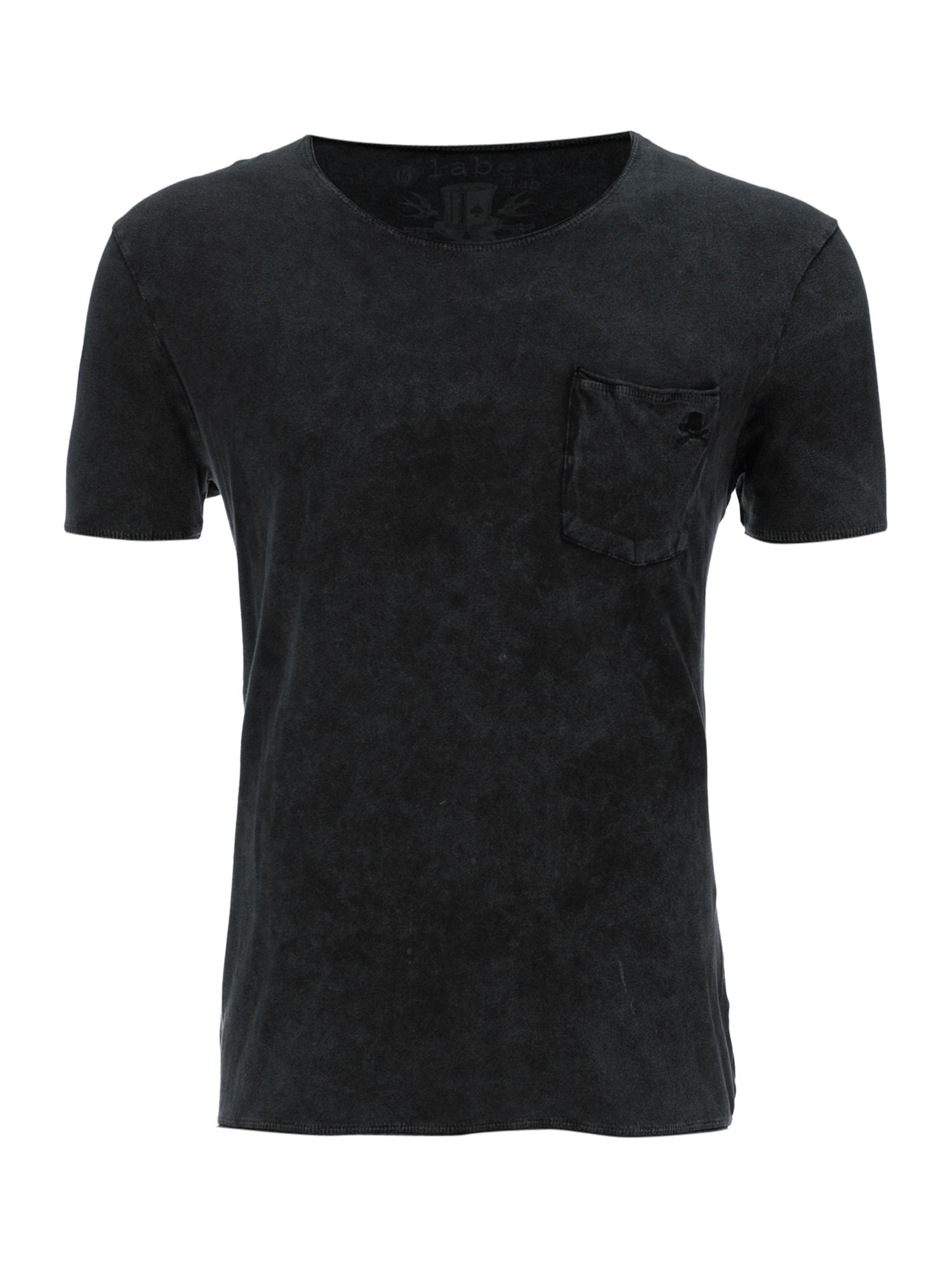 Label Lab Cult crew snow wash T-shirt - Black product image
